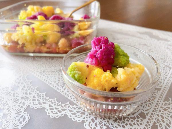 カラフルカリフラワーとお豆のピクルスレシピ4