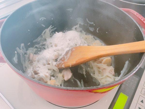 零熟インカとカリフラワーの米粉クリームシチューレシピ2