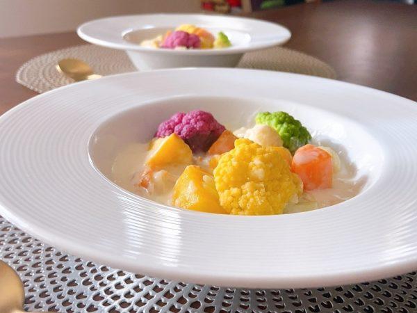 零熟インカとカリフラワーの米粉クリームシチューレシピ4